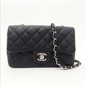 Chanel AUTHENTIC Caviar Rectangular Mini Classic